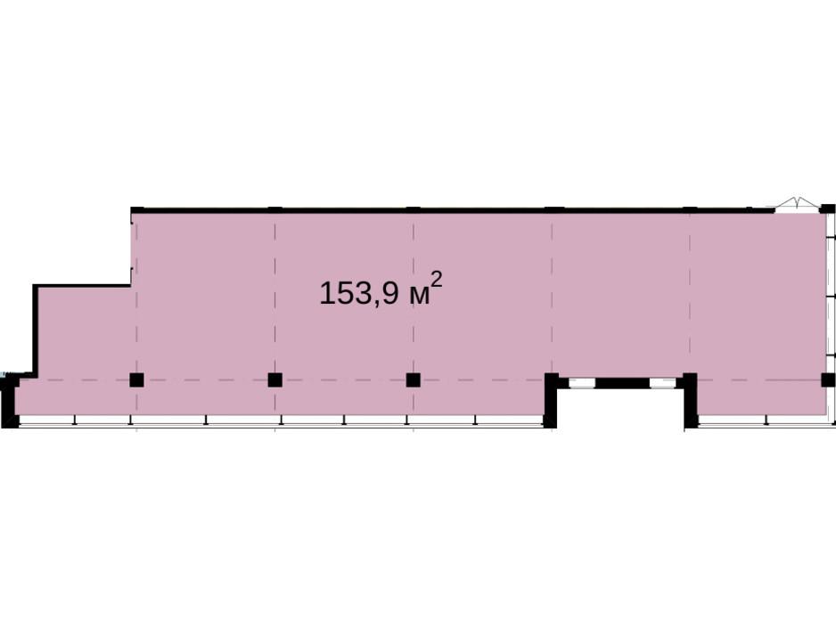 Планування приміщення в Бізнес Центр Q-5  Quoroom Office Metropol 153.9 м², фото 216474