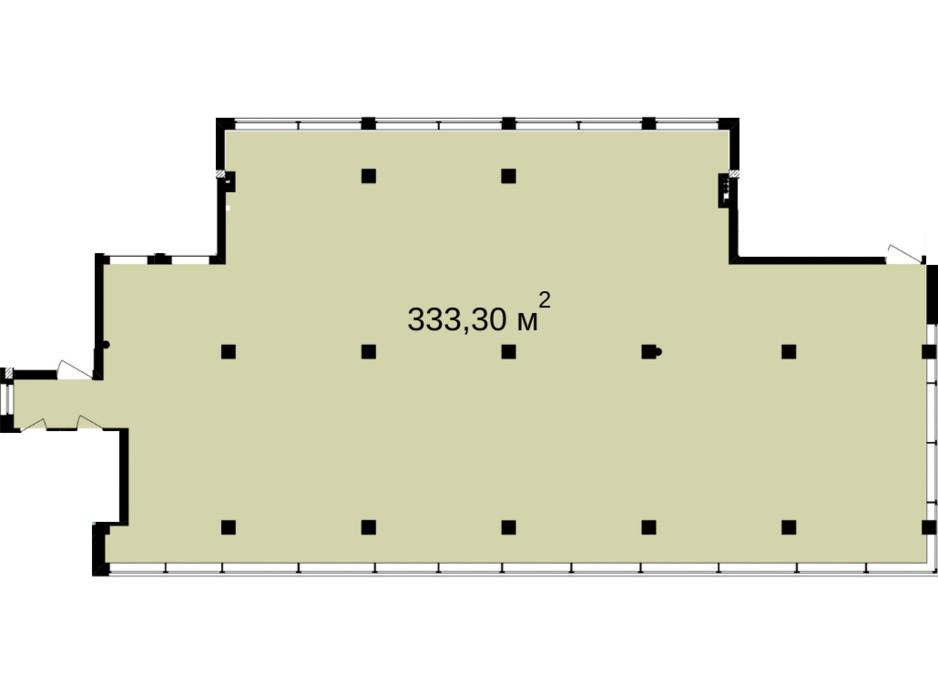 Планировка помещения в Бизнес Центр Q-5  Quoroom Office Metropol 333.3 м², фото 216477