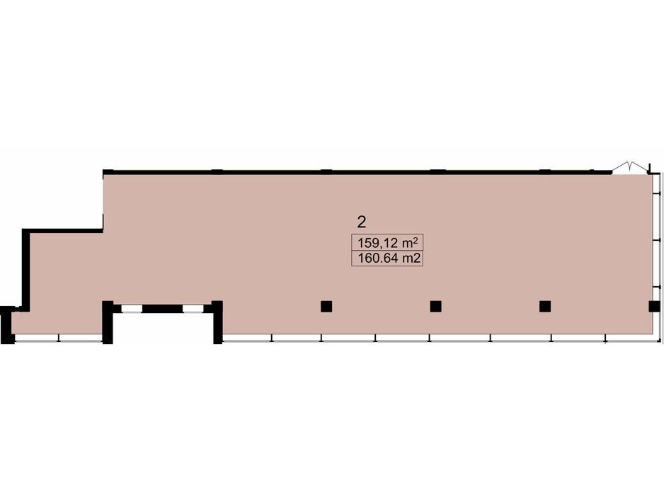 Планировка помещения в Бизнес Центр Q-5  Quoroom Office Metropol 160.64 м², фото 216481