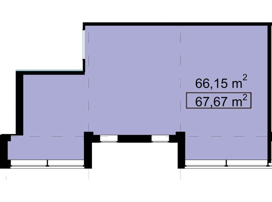 Планировка помещения в Бизнес Центр Q-5  Quoroom Office Metropol 67.67 м², фото 216492