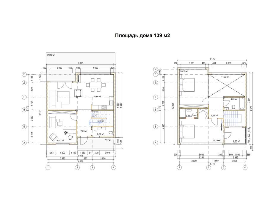 Планировка коттеджа в КГ River Garden 139 м², фото 216960