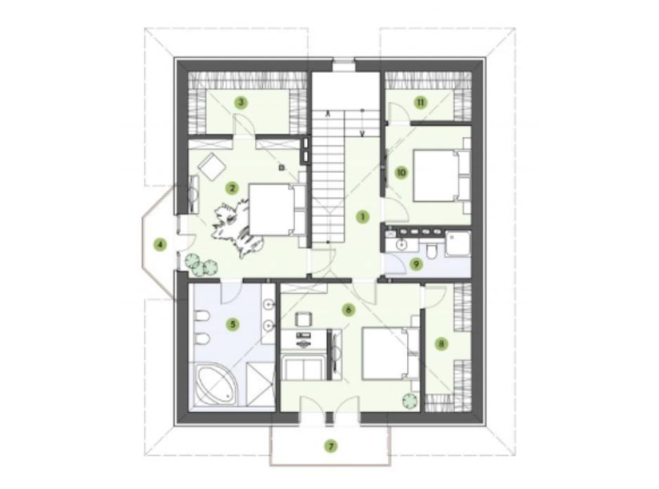 Планування котеджу в КМ Рославичі 210 м², фото 217526
