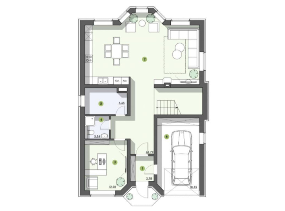 Планировка коттеджа в КГ Рославичи 200 м², фото 217527