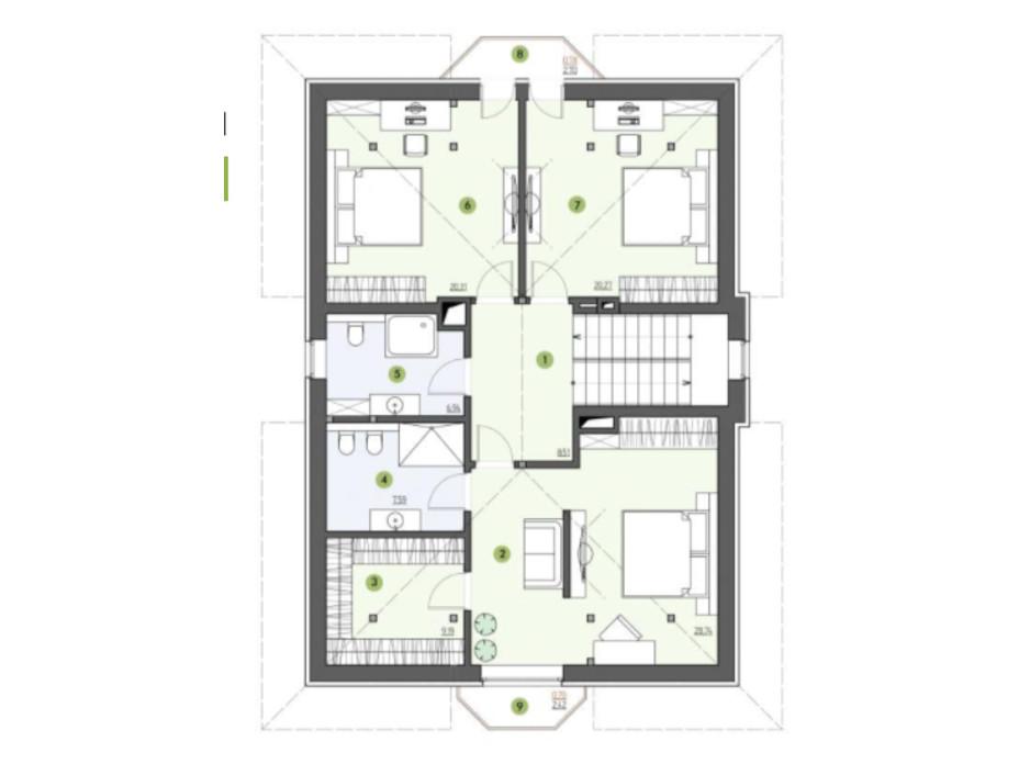 Планировка коттеджа в КГ Рославичи 200 м², фото 217528