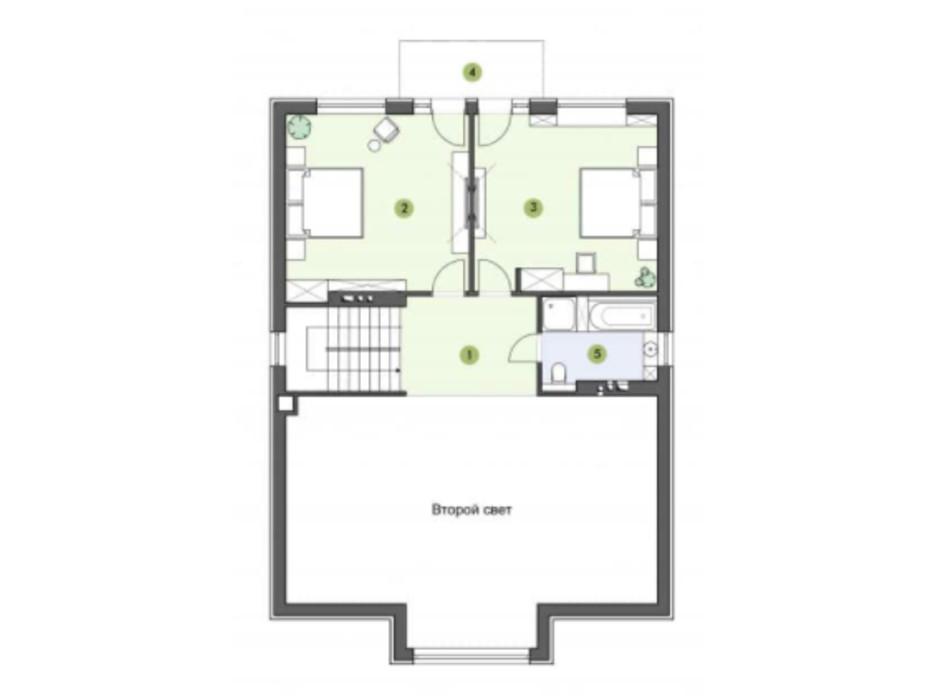 Планировка коттеджа в КГ Рославичи 186.5 м², фото 217529