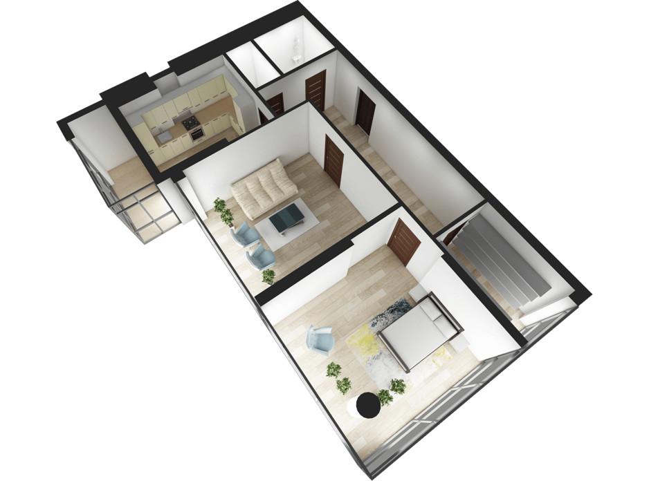 Планування 2-кімнатної квартири в ЖК Національний 87 м², фото 217928