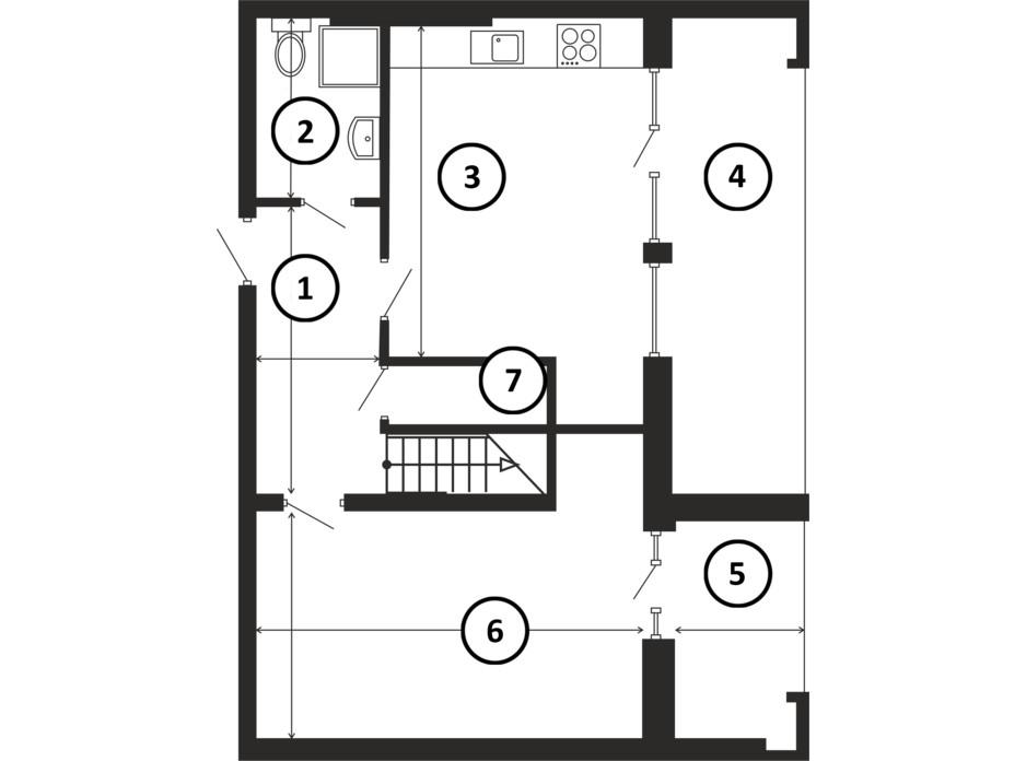 Планировка многоуровневой квартиры в ЖК НАЦІОНАЛЬНИЙ 140 м², фото 217953