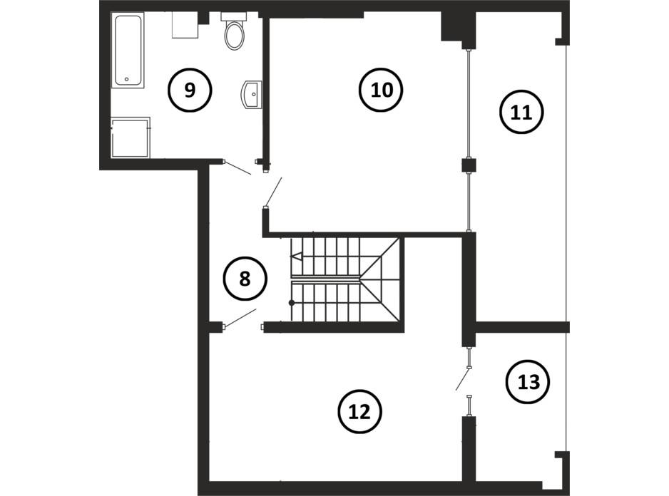 Планировка многоуровневой квартиры в ЖК НАЦІОНАЛЬНИЙ 140 м², фото 217954