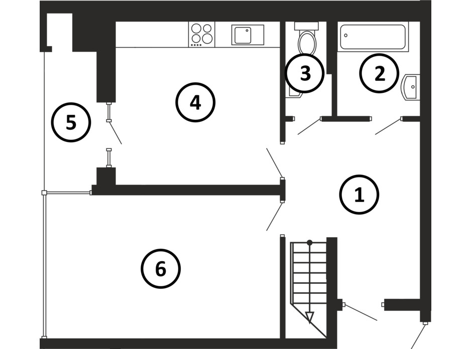 Планировка многоуровневой квартиры в ЖК НАЦІОНАЛЬНИЙ 114 м², фото 217956