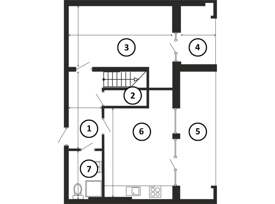 Планировка многоуровневой квартиры в ЖК НАЦІОНАЛЬНИЙ 143 м², фото 217957