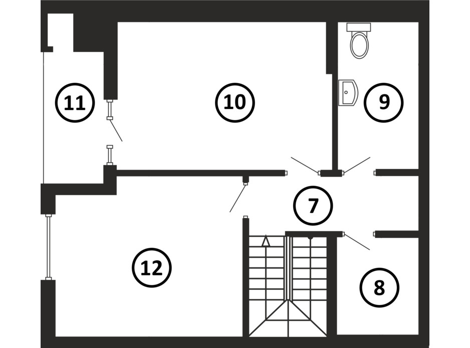 Планировка многоуровневой квартиры в ЖК НАЦІОНАЛЬНИЙ 114 м², фото 217959