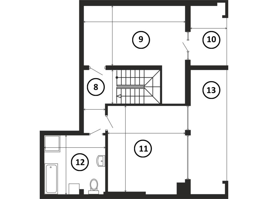 Планировка многоуровневой квартиры в ЖК НАЦІОНАЛЬНИЙ 143 м², фото 217960