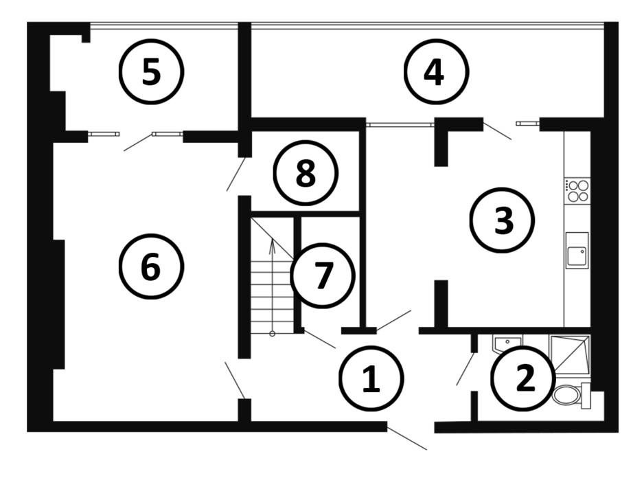 Планування багаторівневої квартири в ЖК Національний 133 м², фото 217983