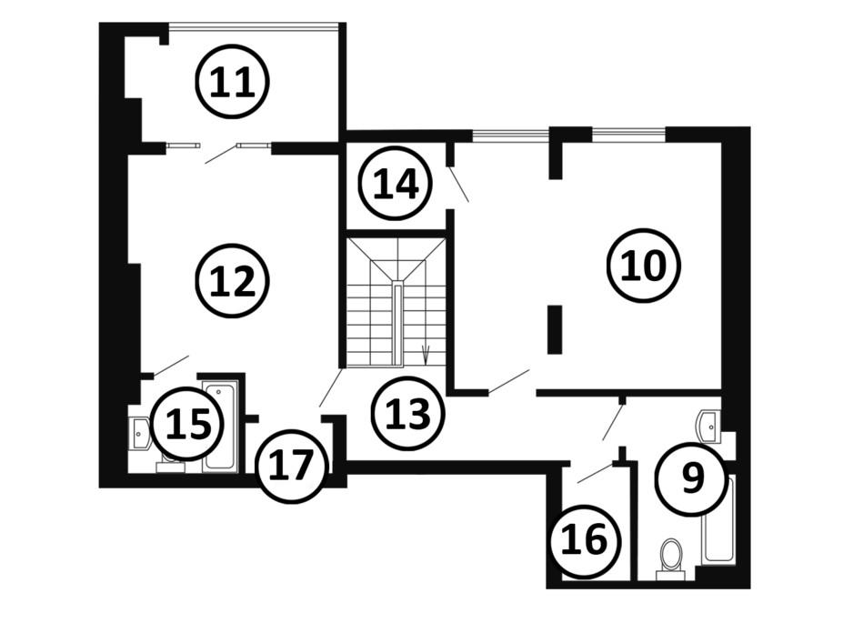 Планування багаторівневої квартири в ЖК Національний 133 м², фото 217988