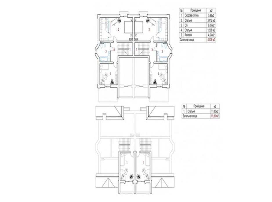 Планування котеджу в КМ New Cottage Residence 150 м², фото 219978
