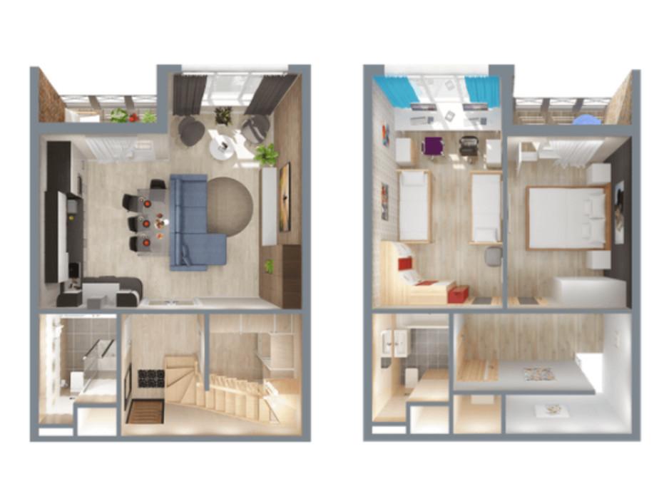 Планировка 3-комнатной квартиры в ЖК А12 на Симоненко 78 м², фото 220347