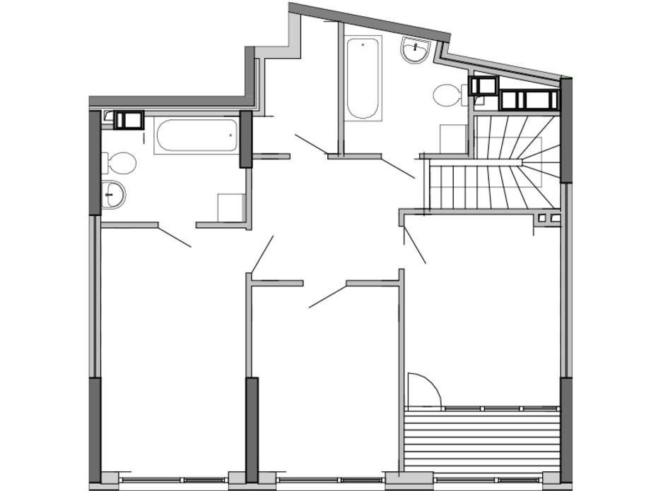 Планування багаторівневої квартири в ЖК Great (Грейт) 148.01 м², фото 220410