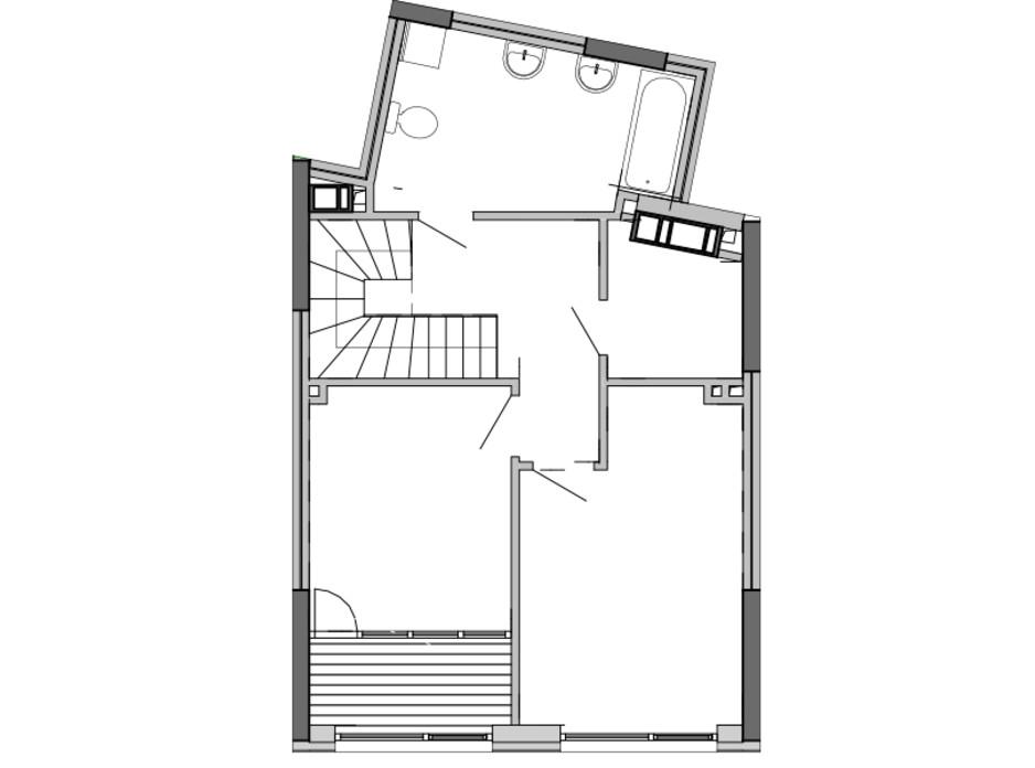 Планировка многоуровневой квартиры в ЖК Great 97.31 м², фото 220411