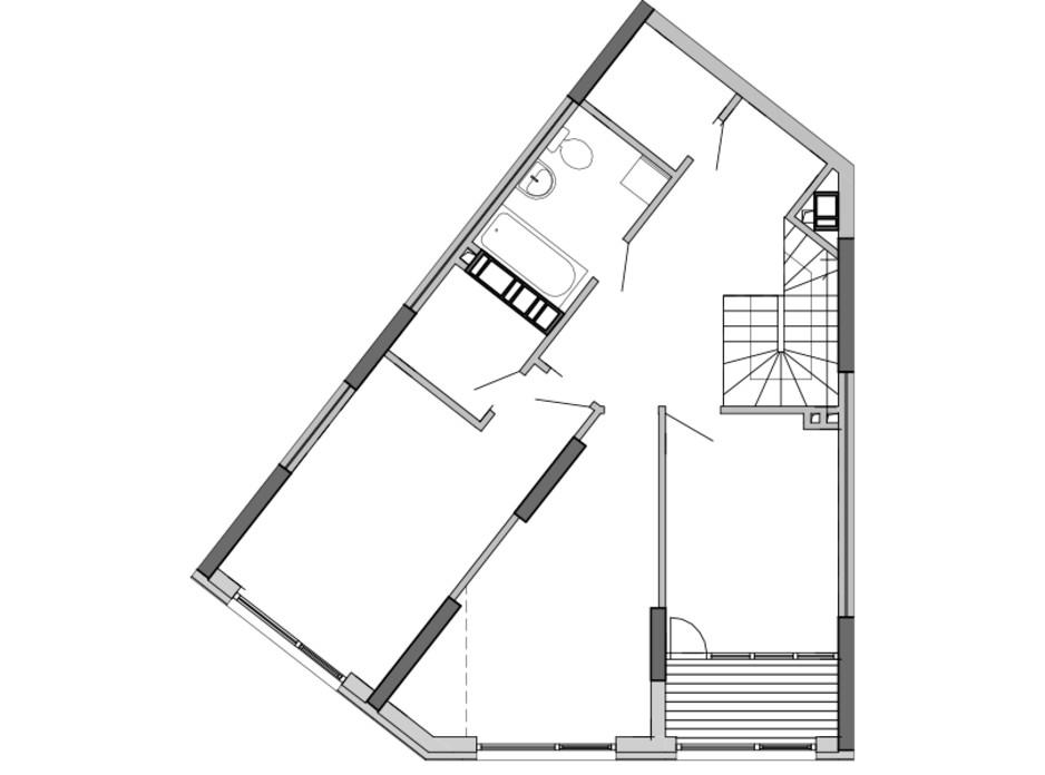 Планировка многоуровневой квартиры в ЖК Great 145.87 м², фото 220416