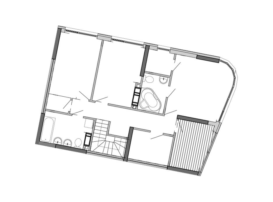 Планировка многоуровневой квартиры в ЖК Great 173.5 м², фото 220417