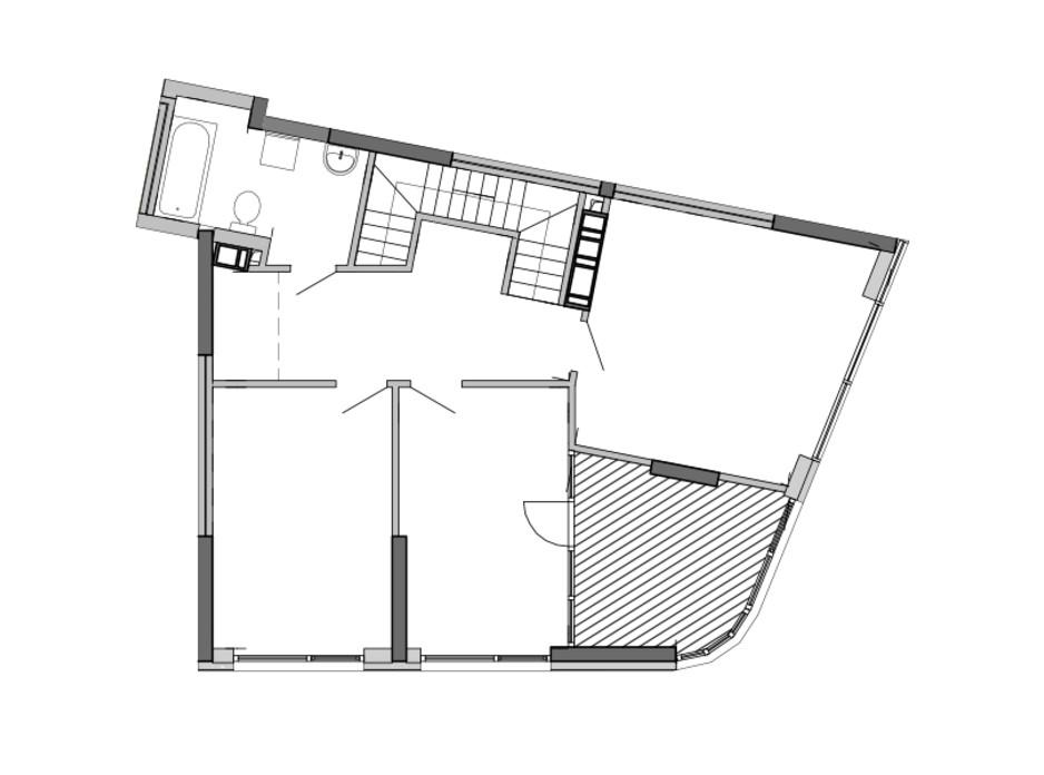 Планировка многоуровневой квартиры в ЖК Great 157.54 м², фото 220420