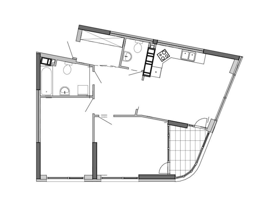 Планировка 2-комнатной квартиры в ЖК Great 78.25 м², фото 220431