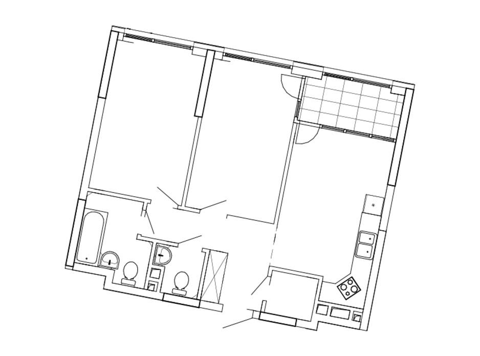 Планування 2-кімнатної квартири в ЖК Great (Грейт) 69.68 м², фото 220433