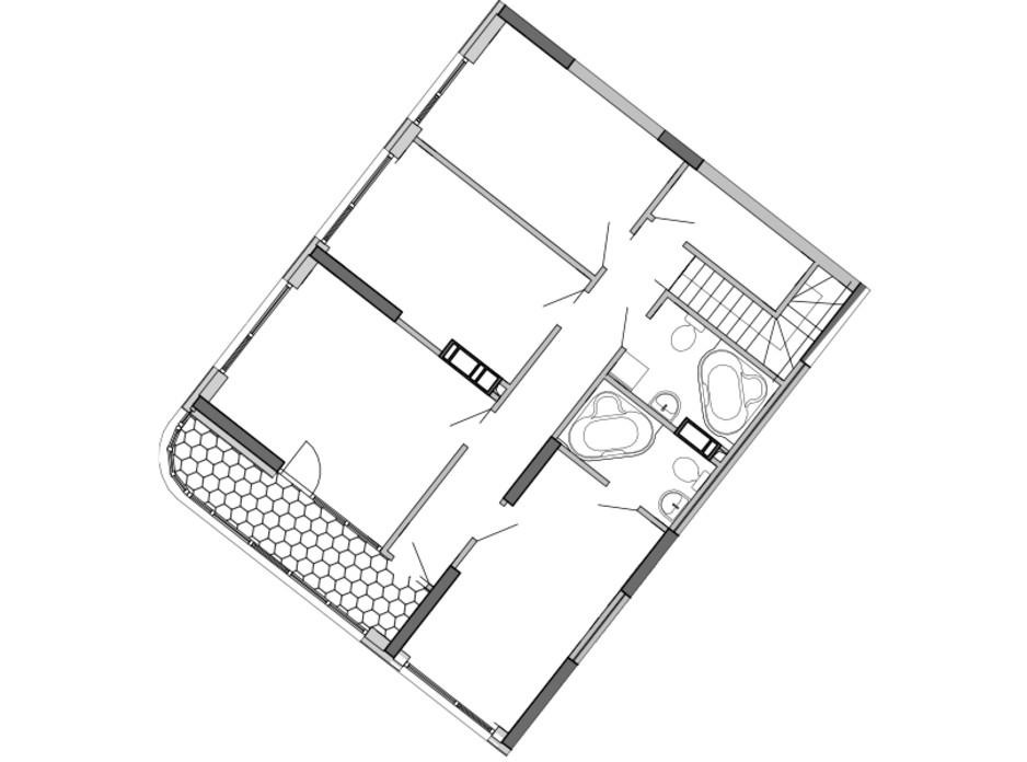 Планировка многоуровневой квартиры в ЖК Great 186.5 м², фото 220438