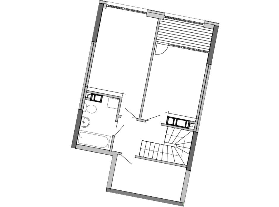 Планировка многоуровневой квартиры в ЖК Great 97 м², фото 220447