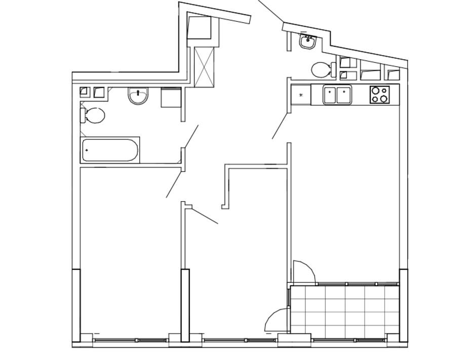 Планування 2-кімнатної квартири в ЖК Great (Грейт) 76.12 м², фото 220454