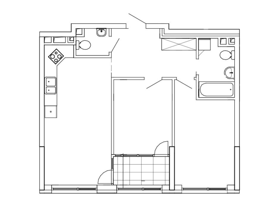 Планировка 2-комнатной квартиры в ЖК Great 69.92 м², фото 220455