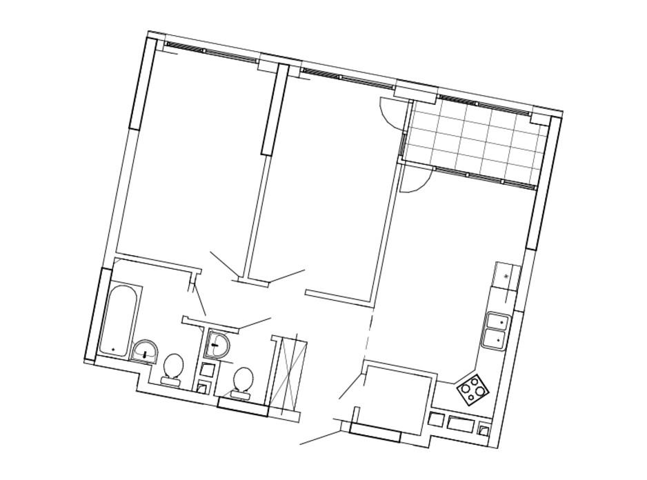 Планировка 2-комнатной квартиры в ЖК Great 69.68 м², фото 220466