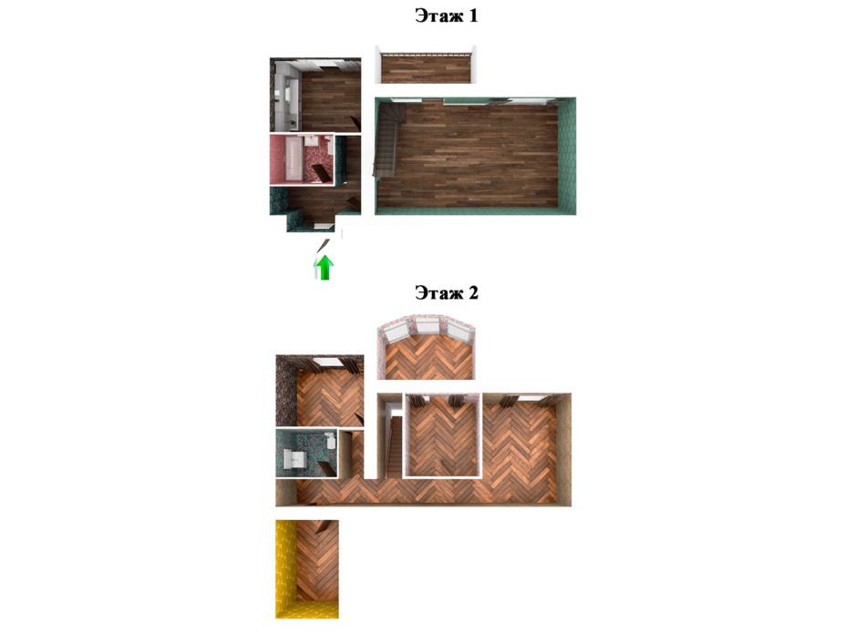Планировка многоуровневой квартиры в ЖК Ривьера 124 м², фото 221598