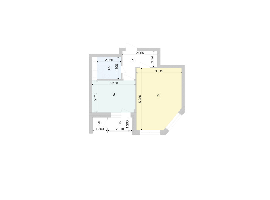 Планування 1-кімнатної квартири в ЖК Голосіївська Долина 39.97 м², фото 222876