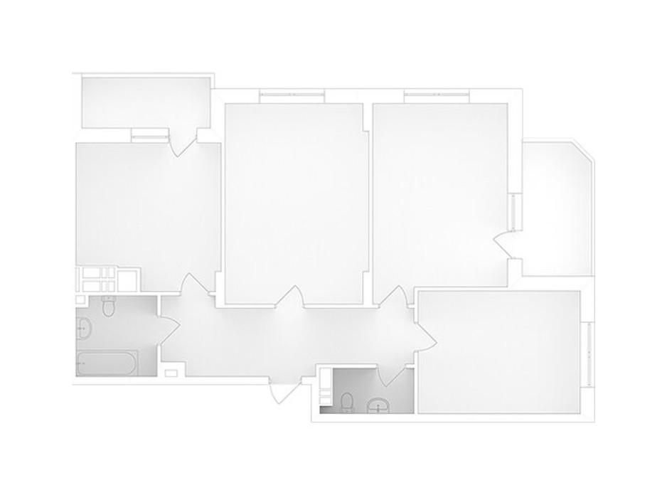 Планування 3-кімнатної квартири в ЖК Банківський 2 75.11 м², фото 223067