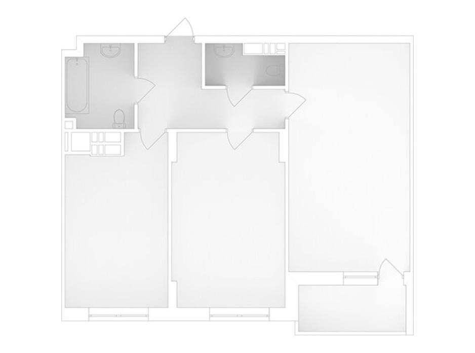 Планування 2-кімнатної квартири в ЖК Банківський 2 58.69 м², фото 223069