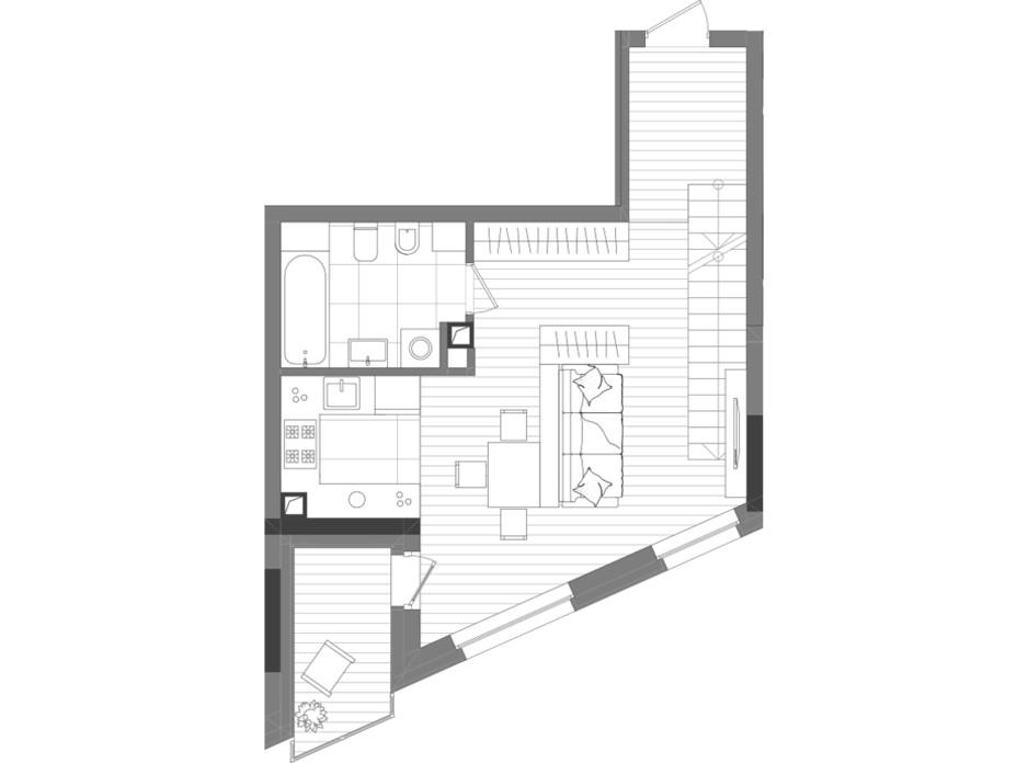 Планировка многоуровневой квартиры в ЖК Creator City 84.71 м², фото 223565