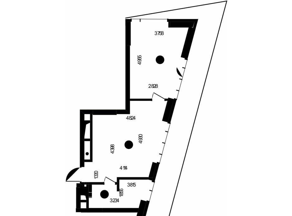 Планування 1-кімнатної квартири в ЖК «Метрополіс» 44.32 м², фото 223683