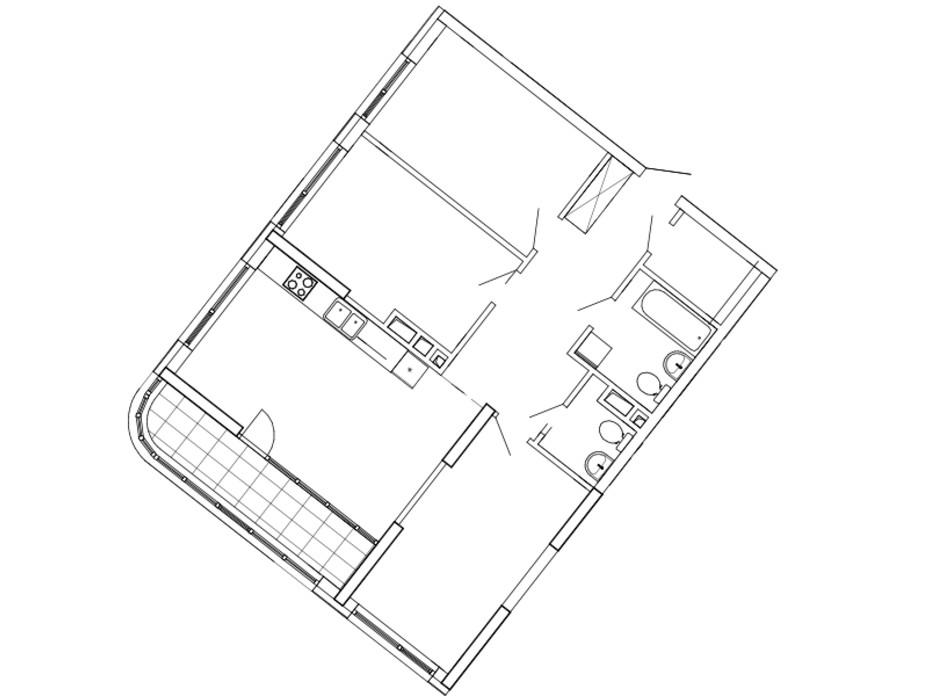 Планування 3-кімнатної квартири в ЖК Great (Грейт) 95.55 м², фото 224864