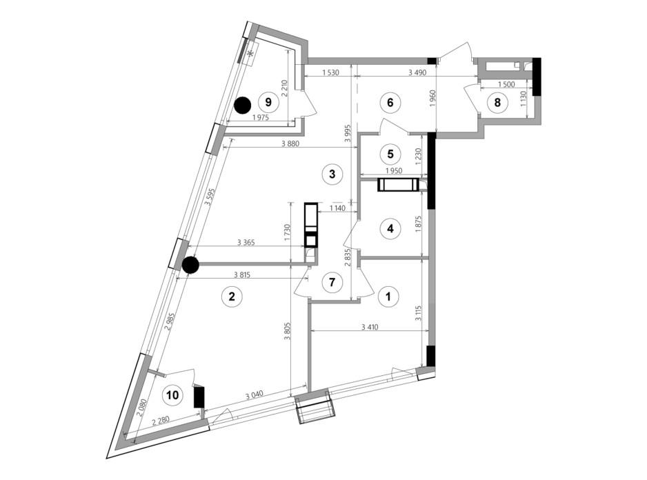 Планировка 2-комнатной квартиры в ЖК Lucky Land 66.95 м², фото 224958