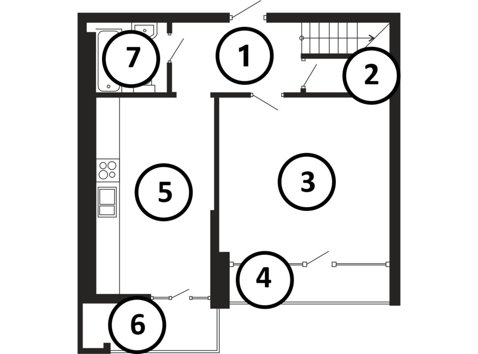 Планировка многоуровневой квартиры в ЖК НАЦІОНАЛЬНИЙ 117 м², фото 225028