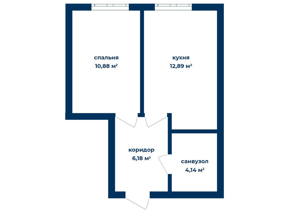 Планировка 1-комнатной квартиры в КД Liverpool House 34.09 м², фото 226109