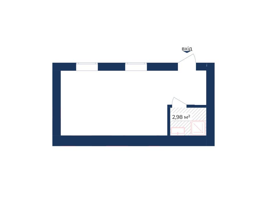 Планування приміщення в КБ Liverpool House 27.29 м², фото 226443