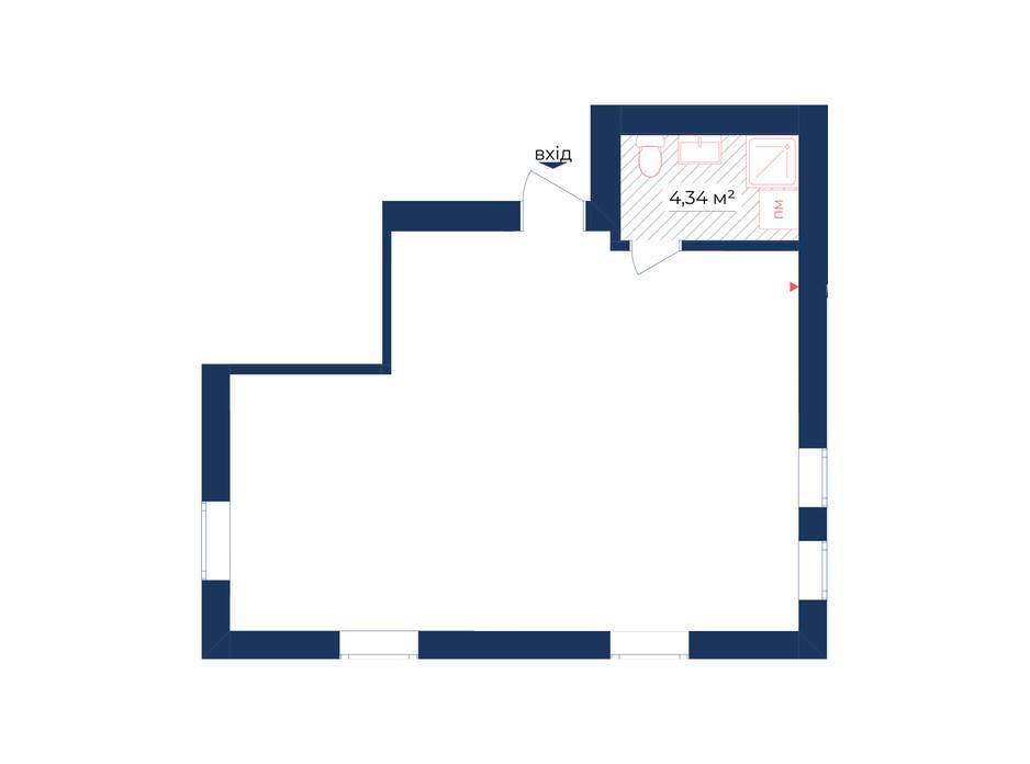 Планування приміщення в КБ Liverpool House 49.79 м², фото 226445