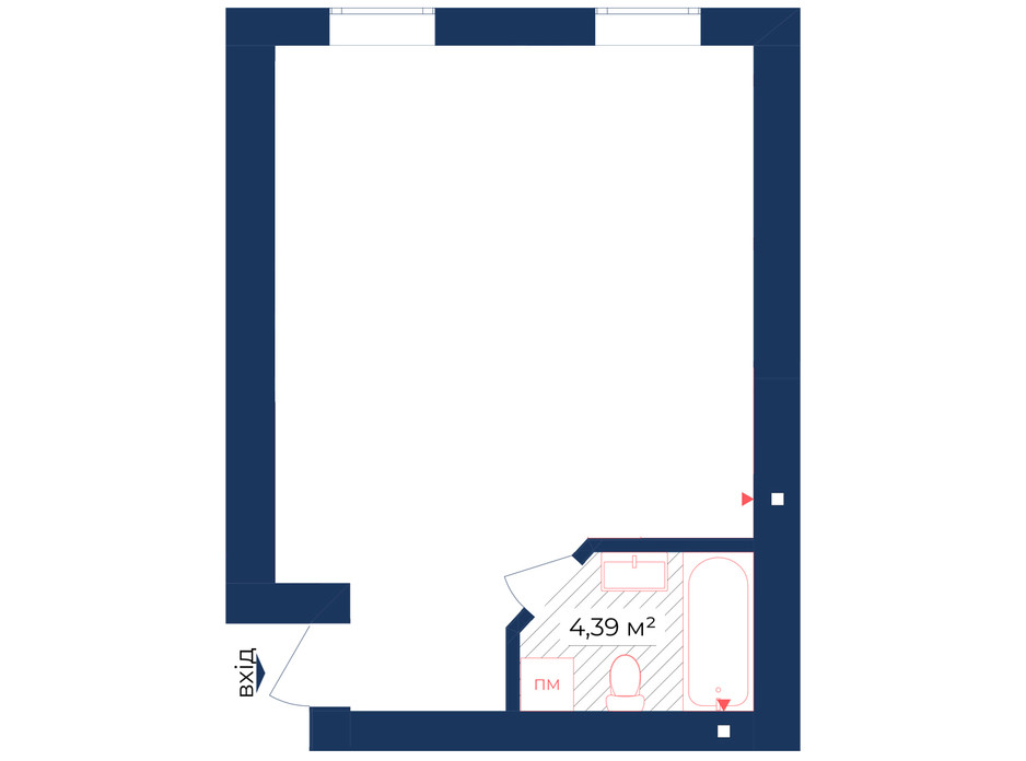 Планування приміщення в КБ Liverpool House 37.97 м², фото 226446