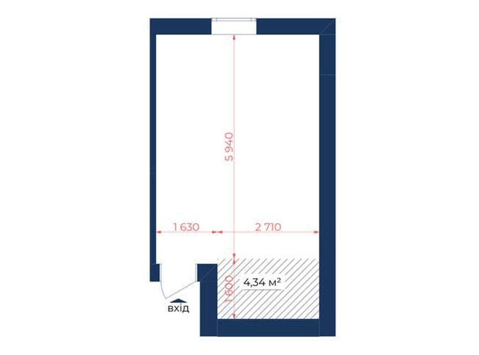 Планування приміщення в КБ Liverpool House 29.87 м², фото 226447