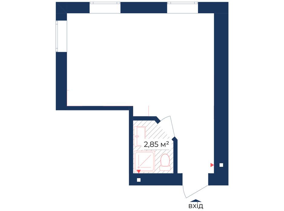 Планування приміщення в КБ Liverpool House 27.58 м², фото 226448