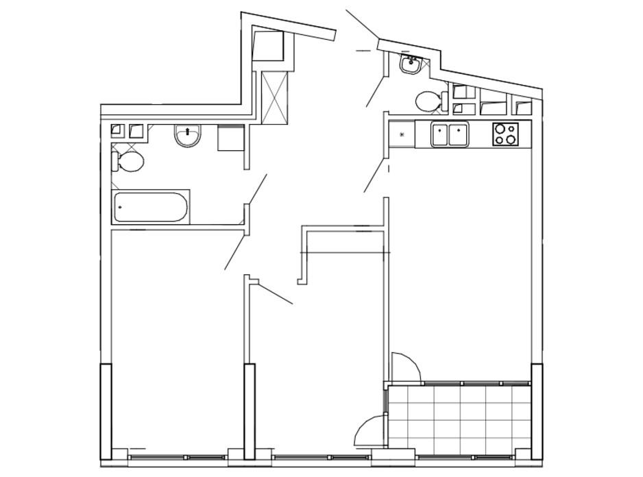 Планировка 2-комнатной квартиры в ЖК Great 76.12 м², фото 226741