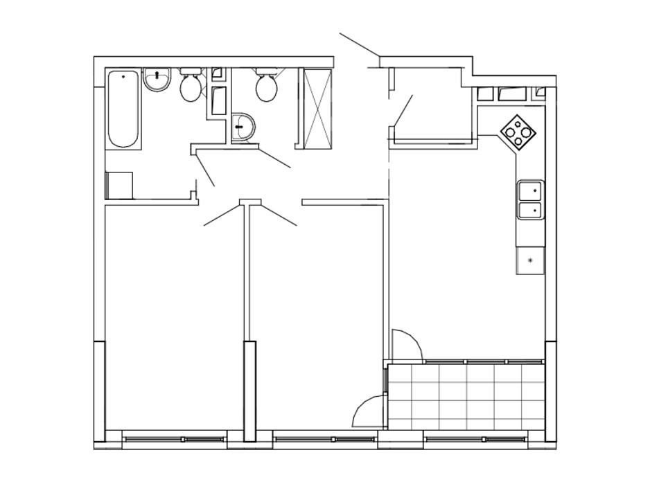 Планування 2-кімнатної квартири в ЖК Great (Грейт) 70.92 м², фото 226763