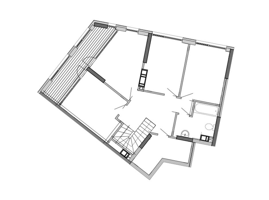 Планировка многоуровневой квартиры в ЖК Great 168.56 м², фото 226765